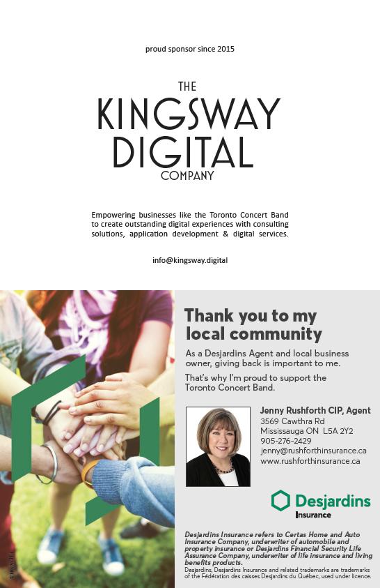 Gold Sponsors Kingsway Digital and Rushforth Insurance